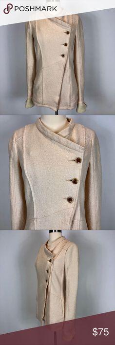 0d54b9422 Free People Wool Peacoat Free People Wool Peacoat. Blush pale pink cream  colored. Wool