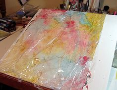 Carly_Clements: Abstract Watercolor on Yupo Paper (1 of 4)