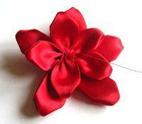 Inspirational Tips, Techniques & Tutorials: Handmade Poinsettia Ribbon Flower Tutorial