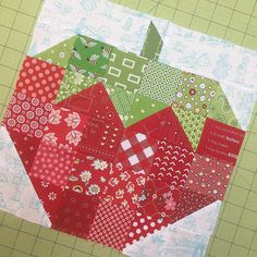 "907 Likes, 19 Comments - @beelori1 on Instagram: ""Scrappy Strawberry....one of this weeks Farm Girl blocks for our sew along.... #farmgirlfridays I…"""