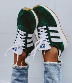 super popular a8df2 c3cb8 In love with these lush green Adidas trainers, such a beautiful colour