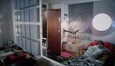 Alex's bedroom - A Clockwork orange, 1971
