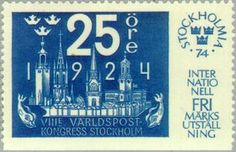 ◇Sweden  1974    Stampexhibition Stockholmia