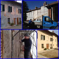 Restauro Facciate Cascina Lombarda | Idee Ristrutturazione Condomini Ladder, Home, Stairs, Ladders, Scale, Staircase Runner, Stairway