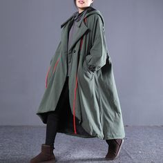 "·Item Code:1954028945470·Women Coat·Cotton and Linen(Inside:Fleece)·Single Breasted·Pockets,Hooded,Drawstring,Embroidered,Split,Irregular HemOne Size (Fit for EU 38-42,US8-12,UK12-16,AU12-16,NZ12-16)Length: 99.00 - 111.00 cm/ 38.98 - 43.70 ""Sleeve Length: 63.00 cm/ 24.80 ""Cuff: 42.00 cm/ 16.54 ""Arm: 60.00 cm/ 23.62 ""Bu Coats For Women, Hoods, Raincoat, Single Breasted, Sleeves, Cotton, Jackets, Fashion, Girls Coats"