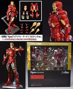 IRON MAN Movie Toys Figure Doll EX-018 Mark 7 FULL SPEC ver figma Limited Rare