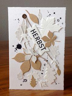 Die schlichte Karte: Blätter I, Blätter Stanze von Impression Obsession