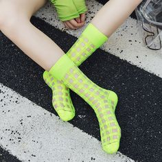Silly Socks, Women Socks, Patterned Socks, High Socks, Inspired, Outfits, Fashion, Moda, Thigh High Socks