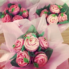 Rose bouquet of cupcakes for Mother's Day