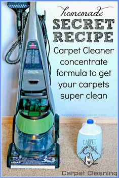 The Best EVER Homemade Carpet Cleaner for Machines - #Carpet #cleaner #homemade #Machines