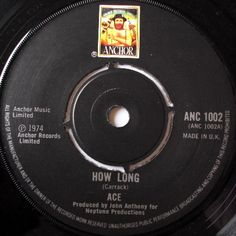 "Ace ""How Long / Sniffin' About"" Anchor Records 1974"