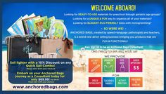 www.anchoredbags.com  TOTES - ORGANIZERS - ACTIVITY SETS GREAT PRODUCTS & OPPORTUNITIES FOR SO MANY PEOPLE!