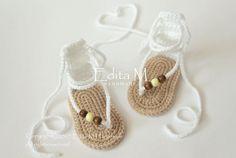 Crochet baby sandals gladiator sandals unisex slippers flip