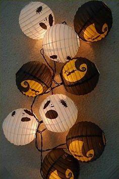 Nightmare before christmas hanging lantern light set Fall Halloween, Halloween Crafts, Happy Halloween, Halloween Decorations, Christmas Decorations, Halloween Stuff, Halloween Camping, Harvest Decorations, Fall Crafts