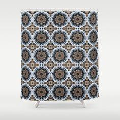 An abstract Tiger's Eye Background Shower Curtain by Celeste Sheffey of Khoncepts - $68.00  #blackwhiteandbrown #tigereye #homedecor