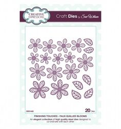 Craft Dies by Sue Wilson - Finishing Touches Collection - Faux Quilled Blooms CED1402