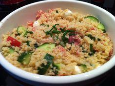 Salade de couscous au proscuitto et bocconcini #recettesduqc #repas #salade