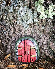 Just painted this little fairy door.....we are going to find a special spot for it soon! Hoping it will stir up the imaginations of little ones when they come across it! #fairy #fairydoor #fairyhouse #jackzagrocks #children #imagination #tree #nature #paintedrocks #gnome