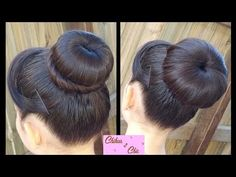 Hair Style in Hindi for Overlap Bun - Do it Yourself | KhoobSurati Studio - YouTube