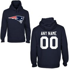 New England Patriots Mens Custom Any Name   Number Hooded Sweatshirt  Patriots Afc afb383882