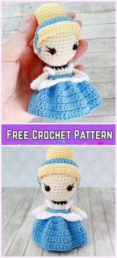 Crochet Cinderella Princess Toy Amigurumi Free Pattern