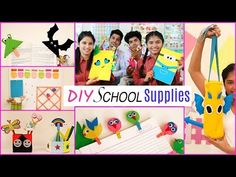 DIY SCHOOL SUPPLIES | DIYQueen - YouTube Diy Projects Lowes, Art Projects, Watch Diy, Diy Back To School, Back To School Supplies, Hacks Diy, Diy And Crafts, Notebooks, Queen Youtube