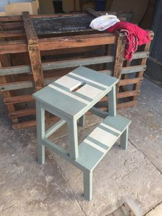 IKEA stool painted with Annie Sloan chalk paint. Must fix my broken one first then paint it.