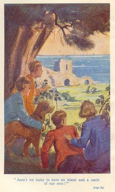 First published in 'Five Run Away Together' by Enid Blyton, illustrated by Eileen Alice Soper Book Illustrations, Children's Book Illustration, Famous Five Books, Enid Blyton Books, Ladybird Books, Bible For Kids, Classic Literature, Vintage Children's Books, I Love Books