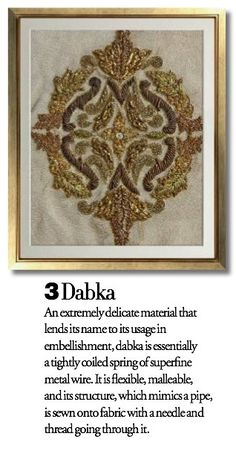 Exquisite Embroideries- DABKA
