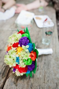 Believe or not, this bouquet is all made of paper :)