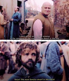 G A M E O F T H R O N E S  [ varys & tyrion // 6x08 ] Love these two #GameofThrones