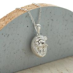 sterling silver hedgehog necklace by hurleyburley | notonthehighstreet.com