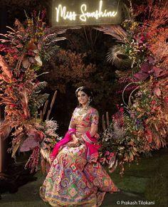 (C) Tilokaniprakash | (C) Socialbutterfliesevents | (C) Thedesignbugs | (C) Aashnaparikh | (C) Asalabusandeep | Wedding photography | Wedding decor #weddingphotoshoot #weddingphotography #bridalphotoshoot #bridallehenga #bridalwear #weddingdecor #neonlights #neon #floral #floraldecor #indianbride Pooja Door Design, Anand Karaj, Buddhists, Home Wedding, Wedding Decorations, Wedding Photography, Victorian, Neon, Indian