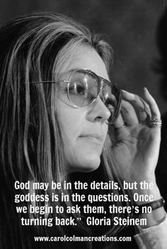For Women's History Month, one of the movement's key figures, Gloria Steinem, shown here at a 1972 news conference.