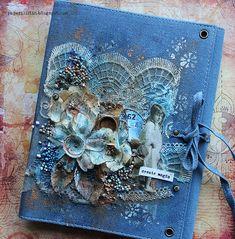 Denim Journal Cover by Riikka Kovasin as a GDT for Finnabair Creative Team