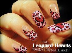 VALENTINE  Hearts by Pinkflyingcow #nail #nails #nailart