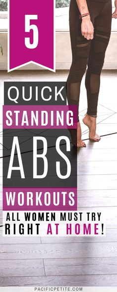 bauch beine po Best standing abs workout for women to get a flat stomach with no equipment and no weights. Use standing abs workout video to get rid of muffin top without fitness on the floors or crunches Sixpack Abs Workout, Abs Workout Video, Best Ab Workout, Tummy Workout, Abs Workout Routines, Belly Fat Workout, Tummy Exercises, Workout Fitness, Pooch Workout