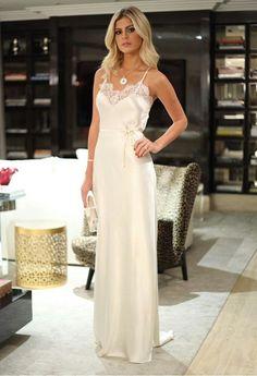 Satin Lingerie, Pretty Lingerie, Bridal Lingerie, Beautiful Lingerie, Beautiful Gowns, Night Gown Dress, Dress Skirt, Party Dress, Gala Dresses