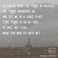 KJV Verse of the Day: Psalm 118:5-6