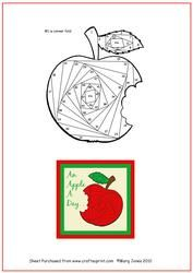 Vista de Apple Iris Folding Detalles patrón