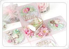Wild Orchid Crafts: Exploding Box for Baby Girl