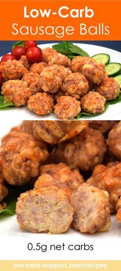 Low-Carb Sausage Balls, 0.5g net carbs