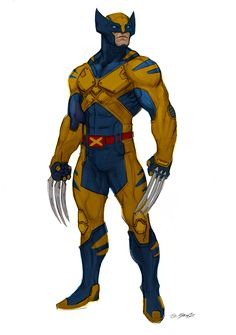 I've always wanted to do a pass on wolverine. I got to do a wide range of sketches exploring different takes on the costume. Wolverine Art, Wolverine Cartoon, Cyclops, Wolverine Cosplay, Marvel Cosplay, Hq Marvel, Marvel Comics Art, Spiderman Marvel, Character Design