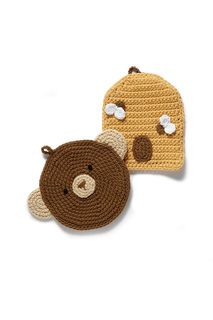 This beehive potholder is a fun and functional way to decorate your kitchen! (LionBrand.com)