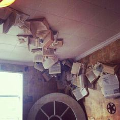 Ceiling Book Installation