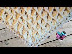 Châle point crocodile facile crochet / Chal crochet punto cocodrilo facil - YouTube