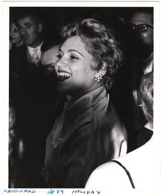 Judy Holliday at the Village Vanguard, photographed by Weegee, 1950s