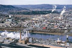Edmundston, New Brunswick, Canada. One of the most polluted city in NB :(.