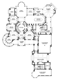 Luxury Floor Plans luxury floor plan ground floor google search House Plan 341 00296 Craftsman Plan 7900 Square Feet 5 Bedrooms 55 Bathrooms Luxury Floor