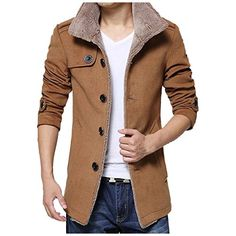 Partiss Men's Long Sleeve Winter Trench Coat,Chinese XL,K...